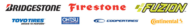We proudly feature products from Bridgestone, Firestone, Fuzion, Toyo, OHTSU, Cooper, and Continental.