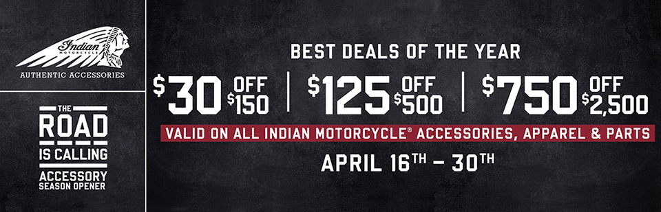 Indian Accessories Season Opener Sale