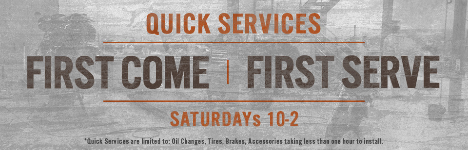 Quick Service Saturdays