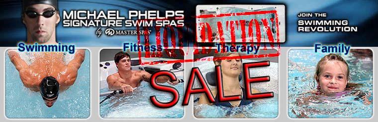 8 Swim Spas on display. Come swim in one today.