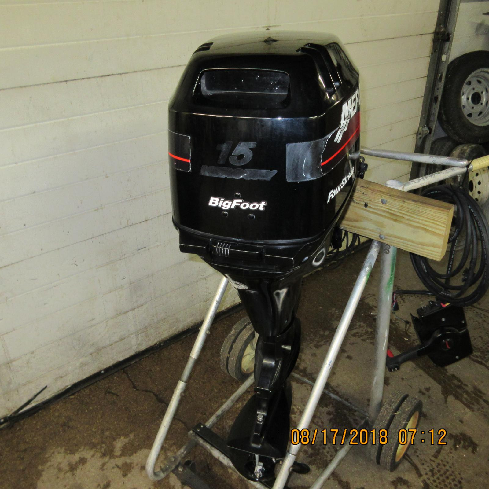 2004 Mercury 15Hp Big Foot Remote style