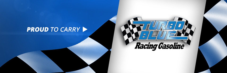 We are proud to carry Turbo Blue® Racing Gasolines! Contact us for details.
