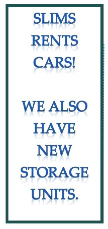 Slims Storage Units and Rental Cars