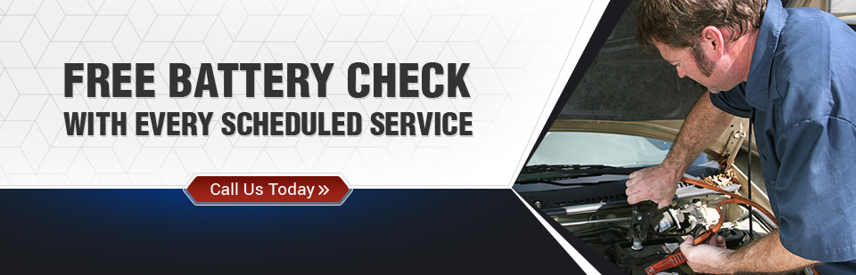 Free Battery Check with Every Scheduled Service: Call (320) 384-6193 for details.