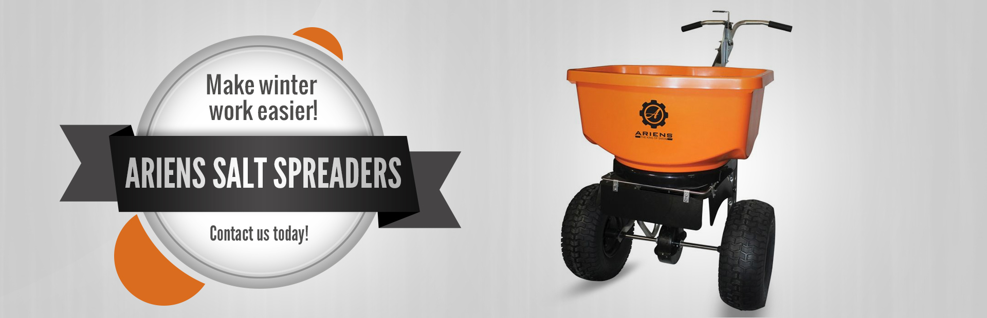 Make winter work easier with Ariens salt spreaders.