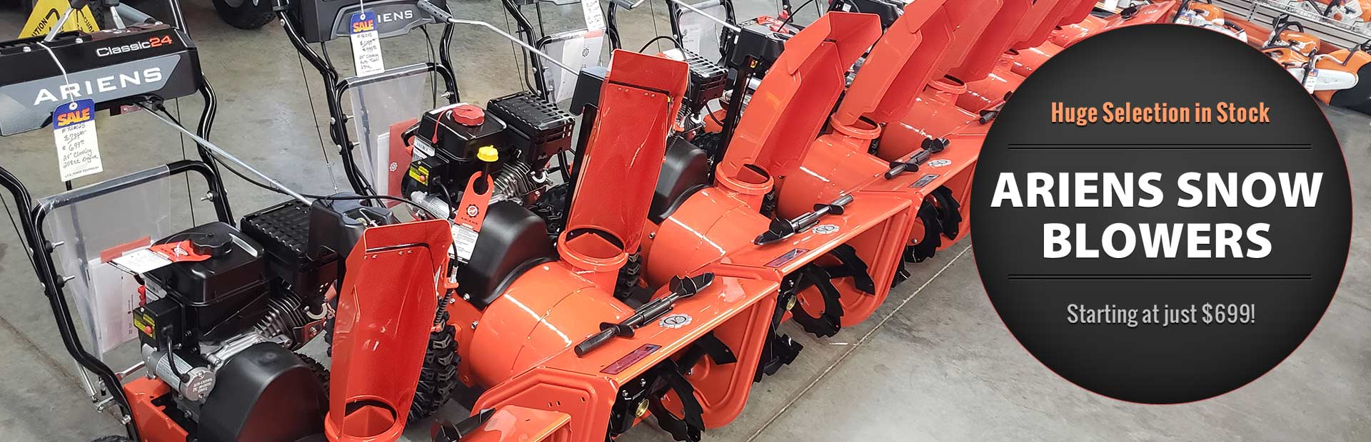 Huge Selection of Ariens Snow Blowers in Stock: Starting at just $699!