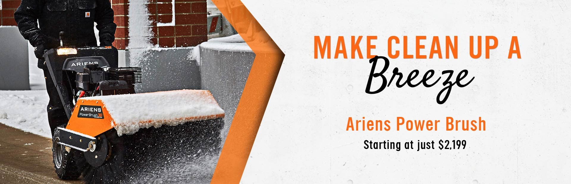 Huge Selection of Ariens Power Brush in Stock: Starting at just $2,199!