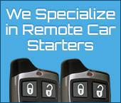 We Specialize in Remote Car Starters