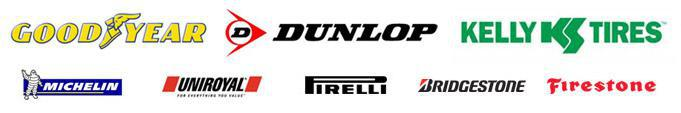 We carry products from Goodyear, Dunlop, Kelly, Michelin®, Uniroyal®, Pirelli, Bridgestone, and Firestone.