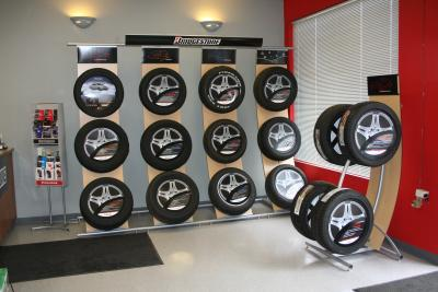 New tire display and showroom!