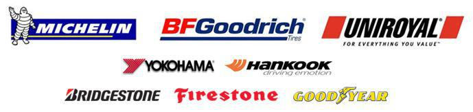 Brands we carry include Michelin®, BFGoodrich®, Uniroyal®, Yokohama, Hankook, Bridgestone, Firestone, and Goodyear.