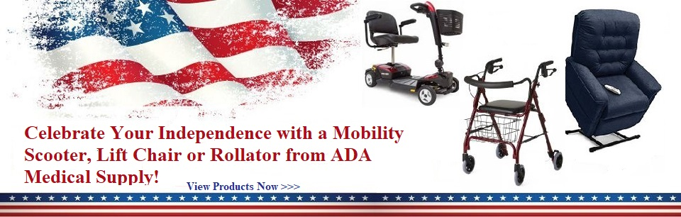 mobility scooter, lift chair, rollator, move independently