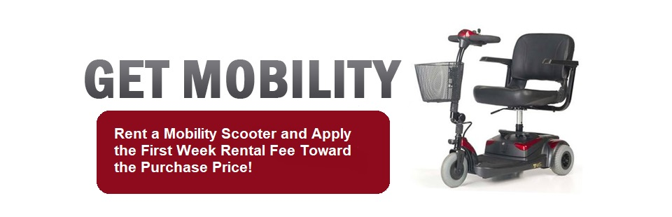 mobility scooter, mobility, apply first week rent to purchase