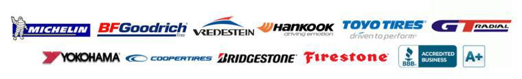 We carry products from Michelin®, BFGoodrich®, Vredestein, Hankook, Toyo, GT Radial, Yokohama, Cooper, Bridgestone, and Firestone. We are a BBB accredited business.