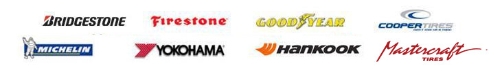 We carry products from Bridgestone, Firestone, Goodyear, Cooper, Michelin®, Yokohama, Hankook, and Mastercraft.