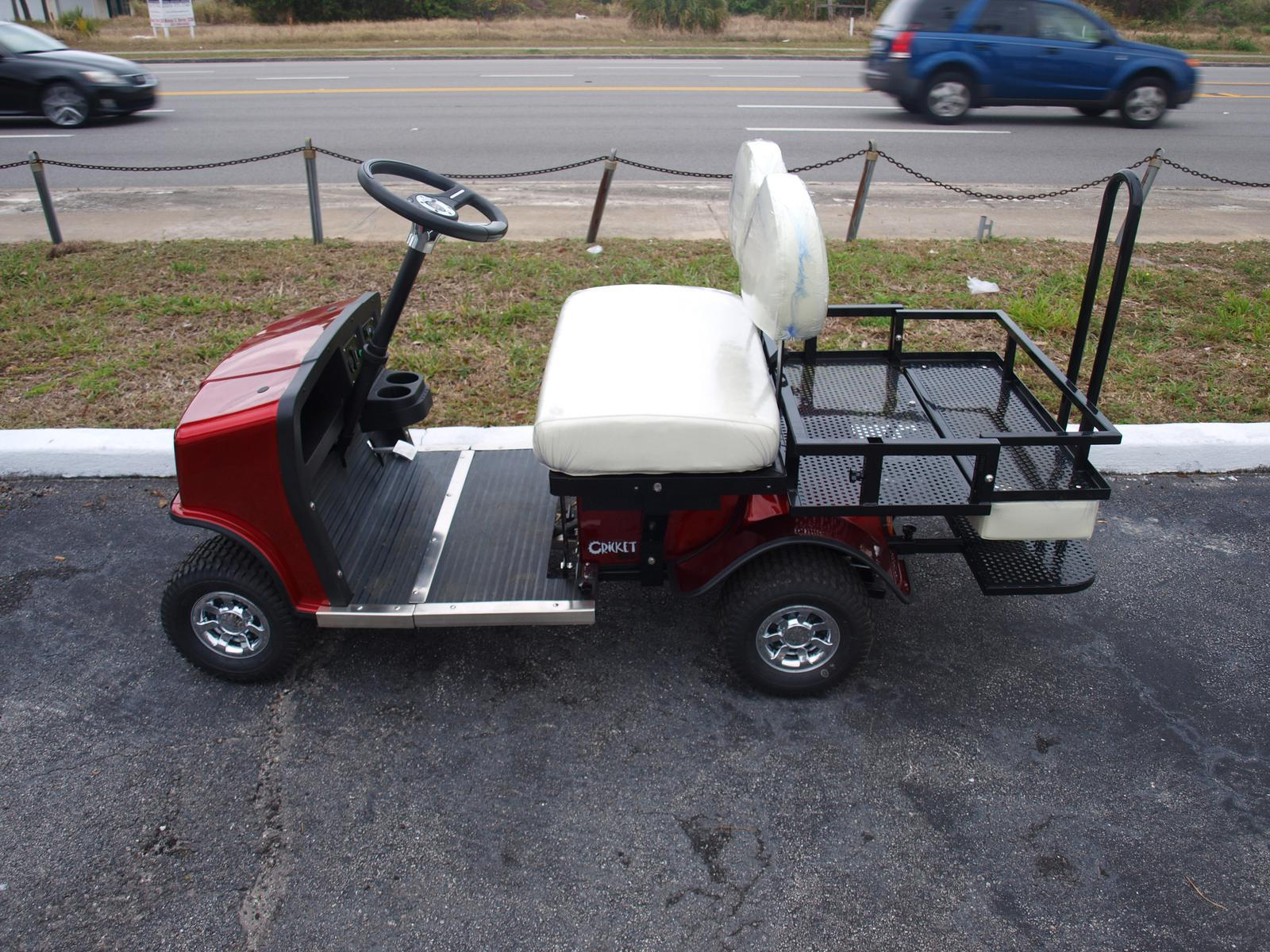 2019 Cricket Cricket Golf Carts. SX-3 Red with White Seats. On-Board on camping bus, camping parts, camping shoes, camping tv,