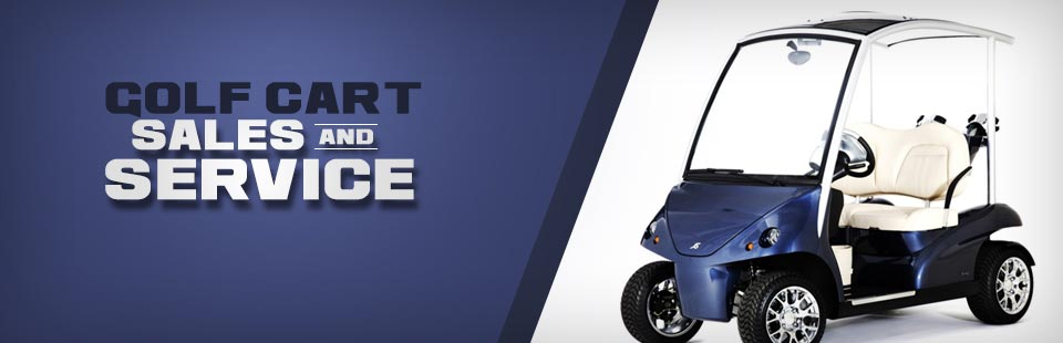 We offer golf cart sales and service!