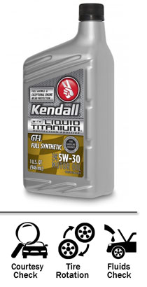 kendall full synthetic oil bottle