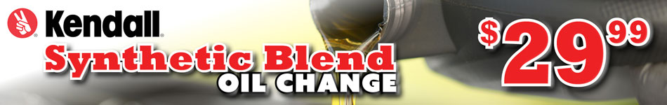 kendall synthetic blend oil change