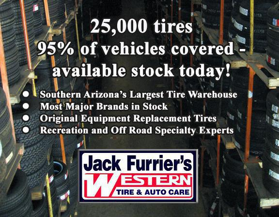 We have 25,000 tires in stock!