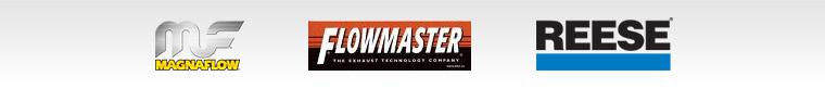 We carry products from MagnaFlow, Flowmaster, and Reese.