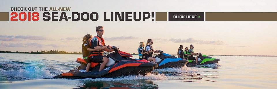 All-New 2018 Sea-Doo Lineup: Click here to view the models.