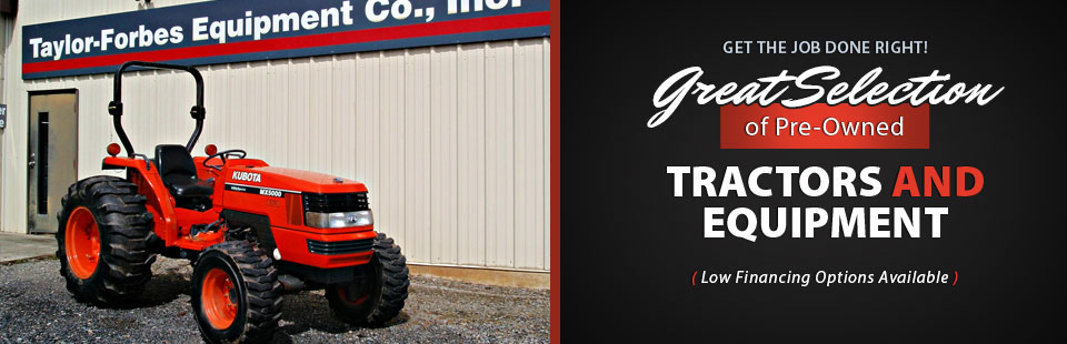 We have a great selection of pre-owned tractors and equipment, plus low financing options are available.