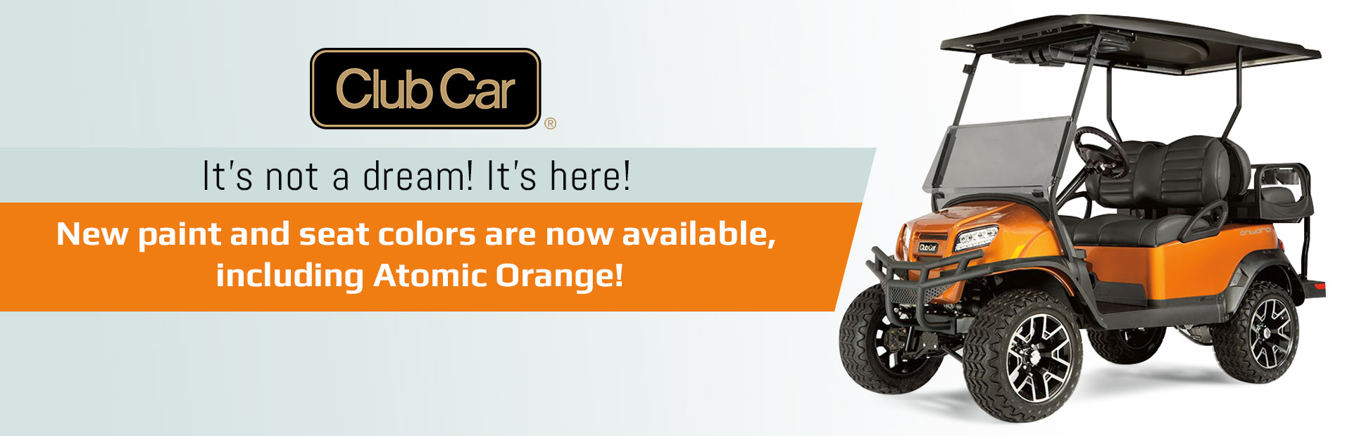 Cub Car: New paint and seat colors are now available, including Atomic Orange!