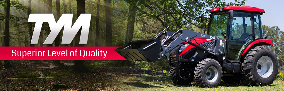TYM Tractors: A superior level of quality. Click here to view the models.