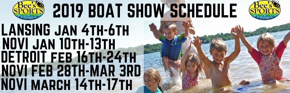 Bee's Sports Boat Show Schedule!