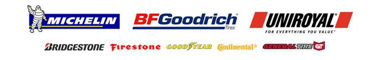 We offer products from Michelin®, BFGoodrich®, Uniroyal®, Bridgestone, Firestone, Goodyear, Continental, and General.