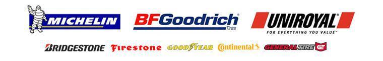 We offer products from Michelin®, BFGoodrich®, Uniroyal®, Bridgestone, Firestone, Goodyear, Continental, and General.