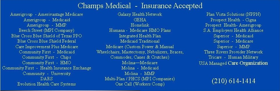 Insurance Accepted Long List
