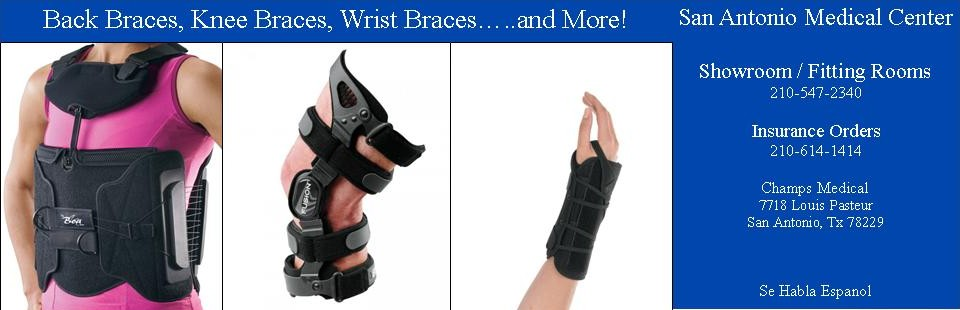 Back Braces, Knee Braces, Wrist Braces....and More!