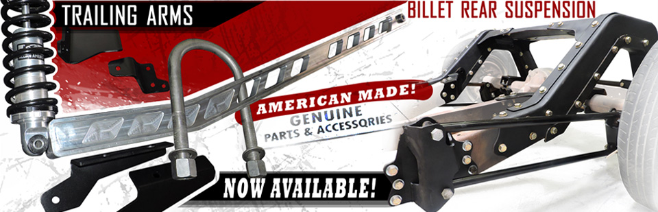 Trailing Arms & Rear Suspension Now Available!