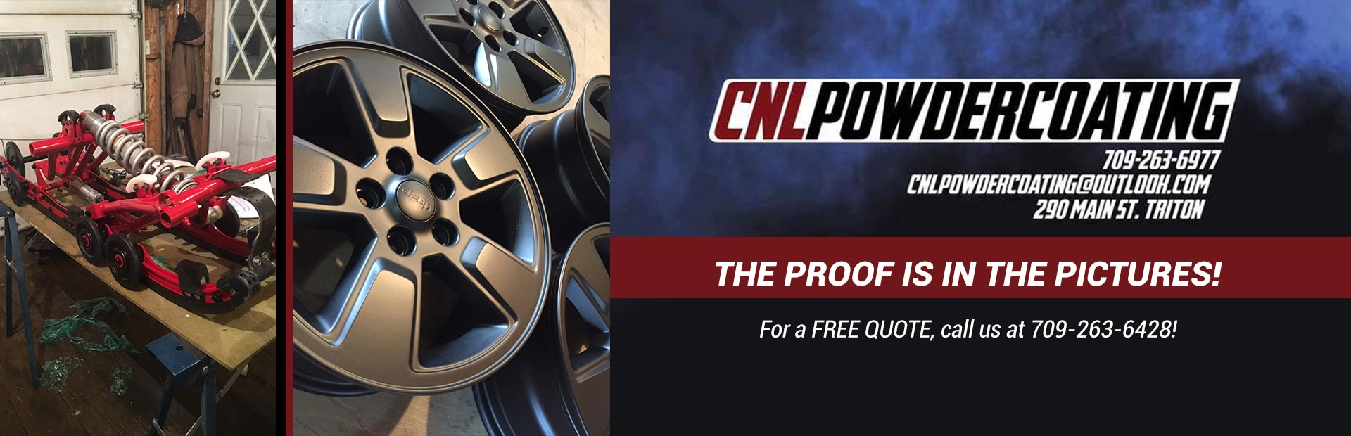 CNL Powder Coating: For a free quote, call us at 709-263-6428!