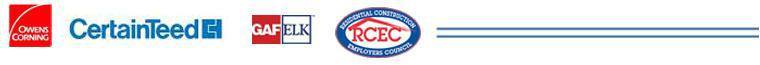 We are affiliated with Owens Corning, Certainteed, GafElk, and the Residential Construction Employee Council.