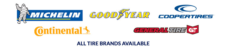 We are proud to feature products from Michelin, Goodyear, Cooper, Continental, and General. All tire brands available.