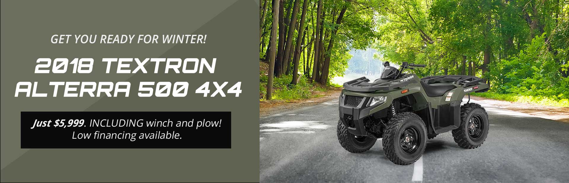 2018 Textron / Arctic Cat ATVs/ Prowlers / WILD CATS! Savings up to $2,000!