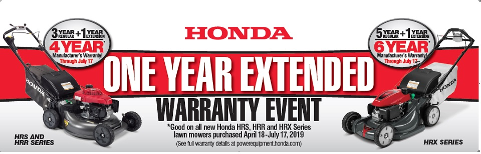 Honda Lawnmower Extended Warranty Event