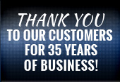 Thank you to our customers for 30 years of business!