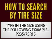 Search by tire size!