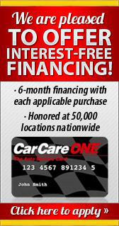 We are pleased to offer Interest-Free Financing!