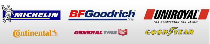 We proudly carry products from Michelin®, BFGoodrich®, Uniroyal®, Continental, General, and Goodyear.