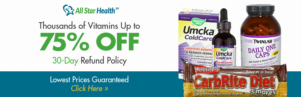 Thousands of Vitamins Up to 75% Off: Click here to shop online.