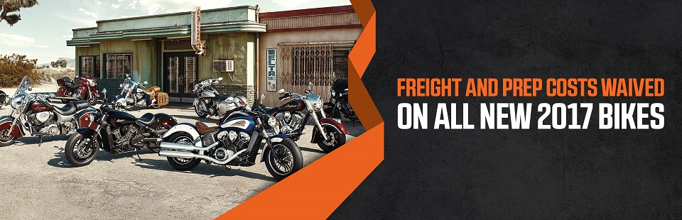 Freight and Prep Costs Waved on All New 2017 Bikes: Click here to contact us for details.