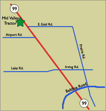 Mid-Valley Tractor Map