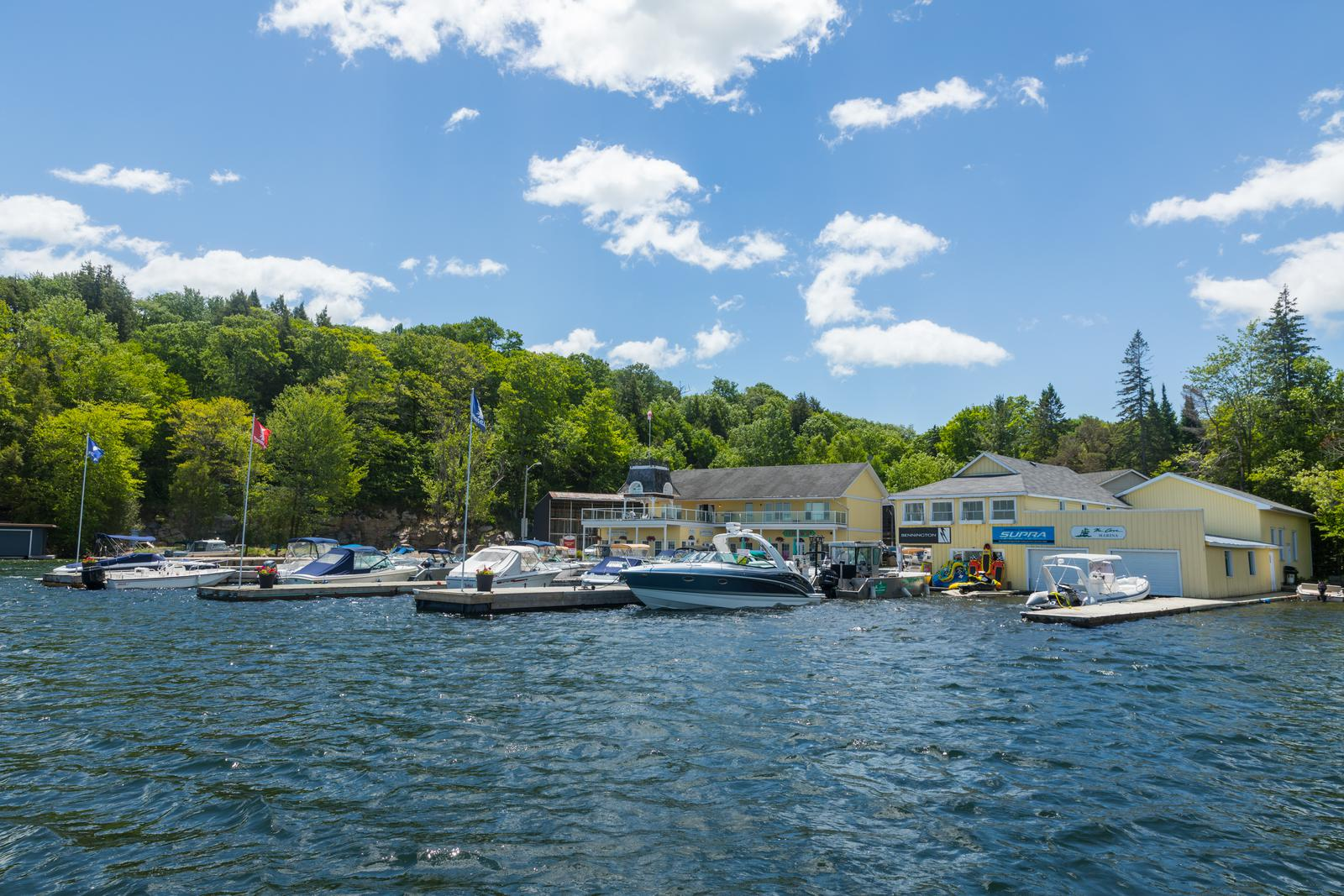 The Cove Marina at Foots Bay Lake Joseph Muskoka