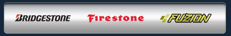 We proudly offer products from Bridgestone, Firestone, and Fuzion.