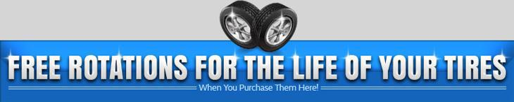 Free Rotations For The Life Of Your Tires When You Purchase Them Here!